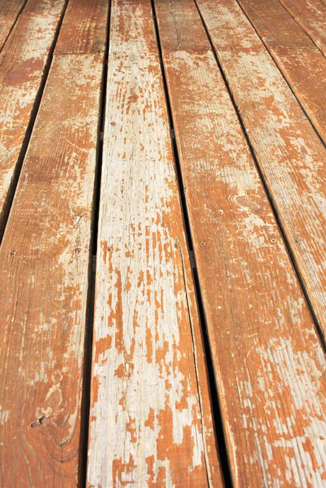 Deck boards before restaining
