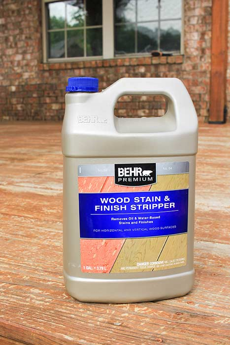 Behr wood stain and finish stripper