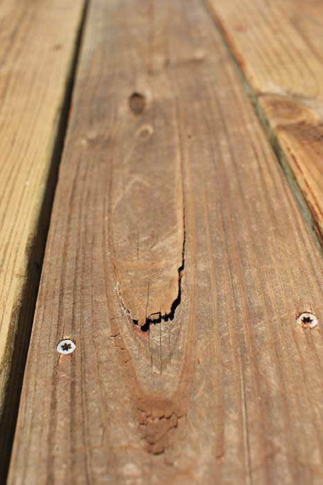 Splinter in wood