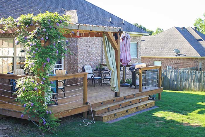 After- restaining a deck