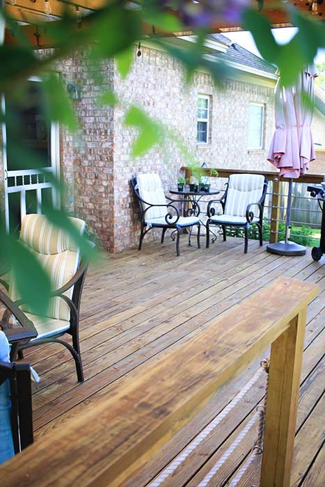 How to restain a deck. After