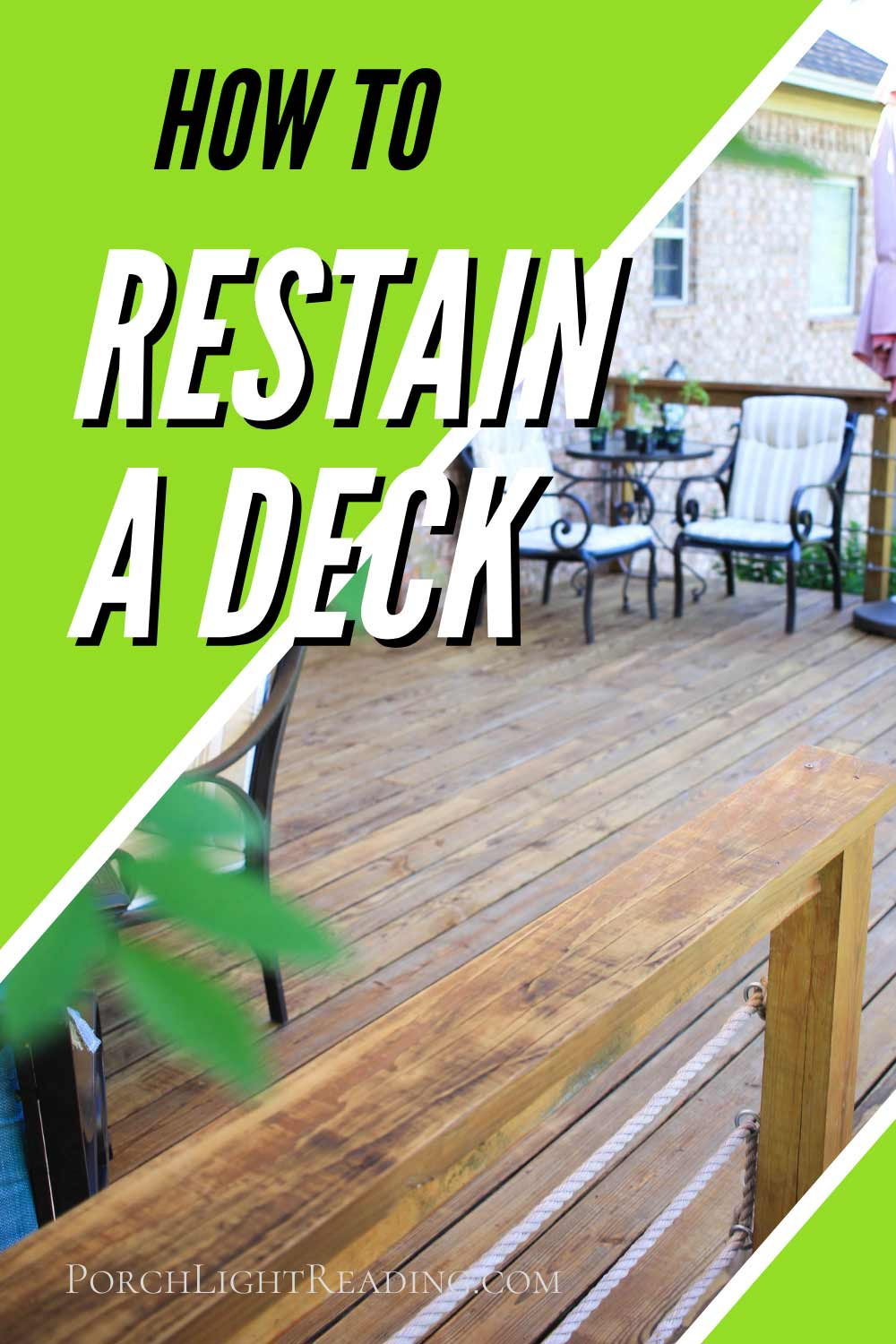 How to restain a deck
