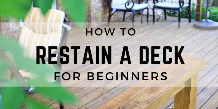 how to re stain a deck