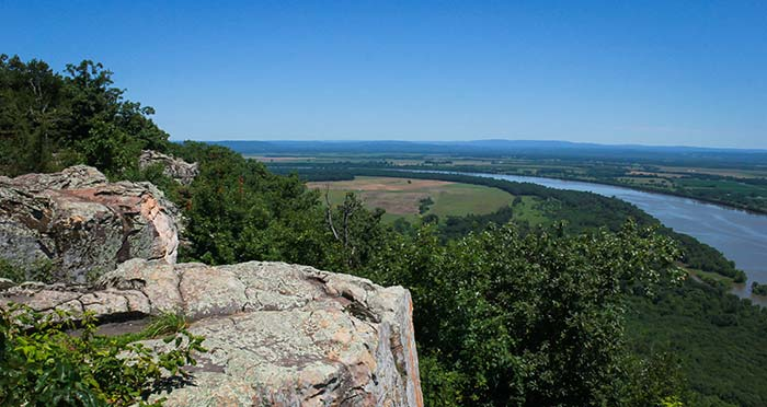 Stouts point lookout of the Arkansas River