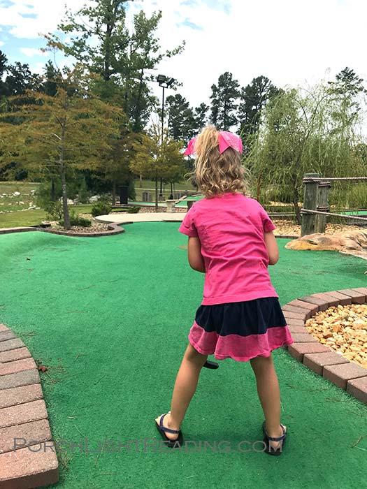 Golf course at Big Rock Fun Park