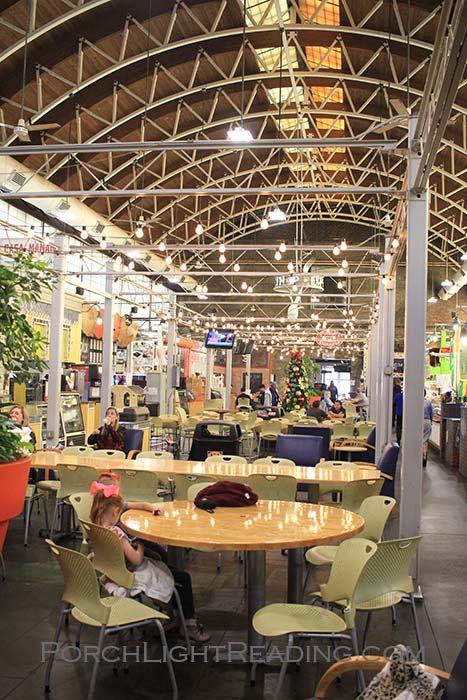 Inside the international food market.