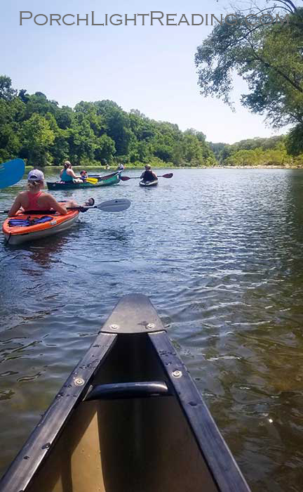 Canoeing down the Buffalo River