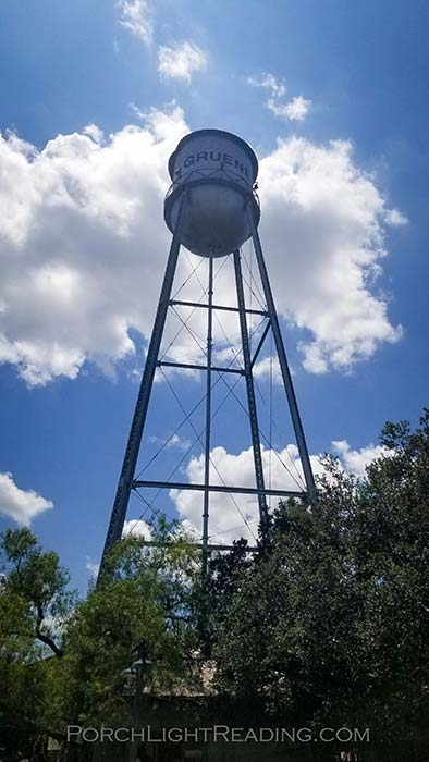 Water tower in the town of Gruene Texas