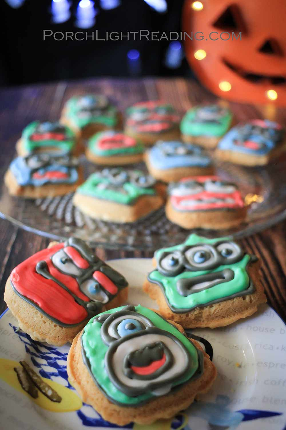 Halloween decorated cookies with royal icing.